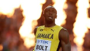 Le Jamaïcain Usain Bolt.