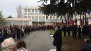 Церемония по случаю 70-летия со дня закрытия концлагеря Жарго (Jargeau) в окрестностях Орлеана.
