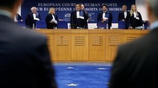 Les juges de la Cour européenne des droits de l'Homme (CEDH) ce mercredi 11 septembre 2019.