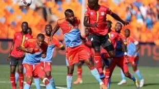 Patrick Kaddu got Uganda's first goal against Democratic Republic of Congo.