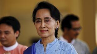 Aung San Suu Kyi, no dia 3/4/15.