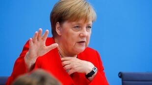 The German chancellor Angela Merklel says she will step down in 2021.