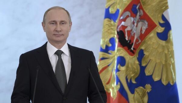 Vladimir Poutine devant les parlementaires russes, le 4 décembre 2014, a justifié point par point la politique de son gouvernement.
