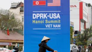 Một cảnh ở Hà Nội trước cuộc họp thượng đỉnh Mỹ - Triều Tiên. Ảnh ngày 22/02/2019.