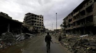 A cidade de Raqqa na Síria.
