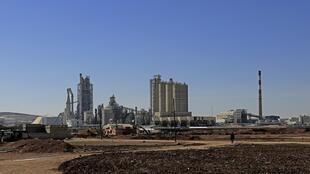 A general view of the Lafarge plant in Jalabiya, northern Syria.