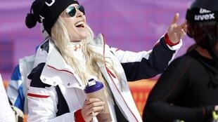 Lindsey Vonn in Pyeongchang on Monday