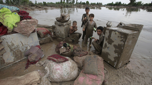 Flood vicitims in Nowshera