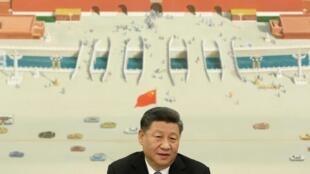 圖為中國國家主席習近平2019年11月22日於北京彭博組織的國際經濟論壇發表講話