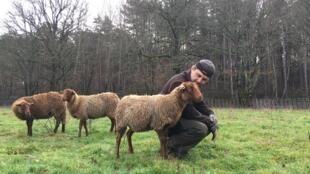 Céréalier-éleveur en Sologne, Franck Baechler pratique l'agriculture de conservation des sols, un mode de culture qui devrait être épargné par l'interdiction du glyphosate.