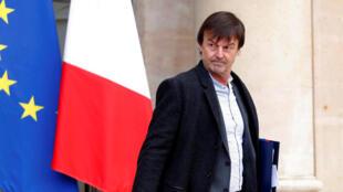 O ministro da Transição Ecológica da França, Nicolas Hulot.