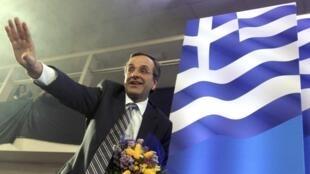Antonis Samaras, chefe do partido conservador grego.
