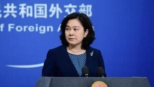 中國外交部發言人華春瑩資料圖片