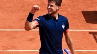 L'Autrichien Dominic Thiem s'est qualifié pour la première fois pour la finale du tournoi de Roland-Garros.