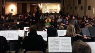 Orquestra Santo Antônio em Briançon, região dos Altos Alpes franceses, 30/11/2018