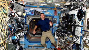 Thomas Pesquet on the International Space Station in 2016