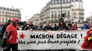 Manifestation acte IV des «gilets jaunes», à Paris, le 8 décembre 2018.