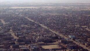 Vue aérienne de Nouakchott, Mauritanie.