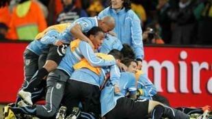 L'Uruguay est d'autant plus heureuse de sa qualification qu'elle est passée très près de l'élimination.