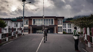 Un soldat camerounais à Buea, ville du Cameroun anglophone.