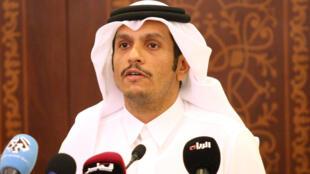 El jefe del la diplomacia de Qatar, Mohamed ben Abderrahmane Al-Thani.