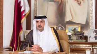 El emir de Catar, jeque Tamim Ben Hamad Al Thani.