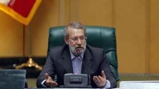 Ảnh tư liệu: Chủ tịch Quốc Hội Iran Ali Larijani sau khi được tái cử ngày 29/05/2016 tại Teheran.