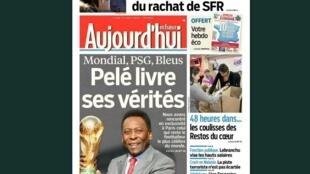 Capa do jornal francês Aujourd'hui en France desta segunda-feira, 10 de março.