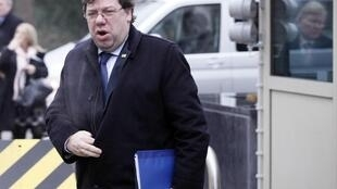 Ireland's Prime Minister Brian Cowen arrives at a meeting in Brussels