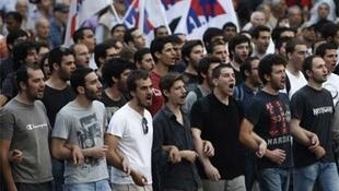 The Pame rally in Athens on Friday