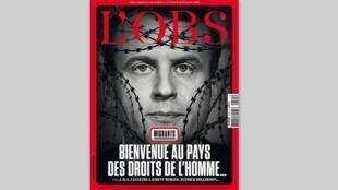A revista semanal L'Obs comenta a política do governo de Emmanuel Macron em relação aos migrantes