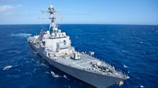 Khu trục hạm USS Wayne E. Meyer. Ảnh minh họa.