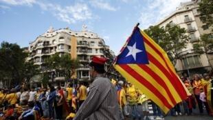 Manifestación a favor de la independencia de Cataluña, en Barcelona, septiembre de 2013.