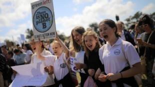 Học sinh Úc biểu tình vì Khí hậu tại Sydney, ngày 20/09/2019.