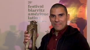 Gustavo Rondón tras la ceremonia de los premios en Biarritz.