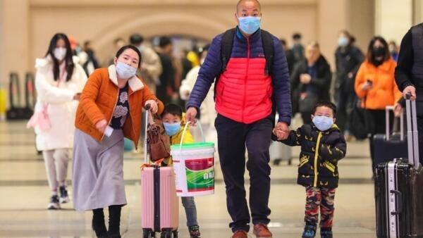 Estação de Hankou em Wuhan, onde foi detectado no centro de China, vírus de pneumonia viral