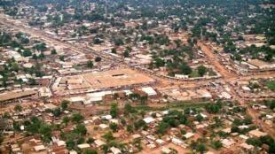 Vue aérienne de Bangui, RCA.