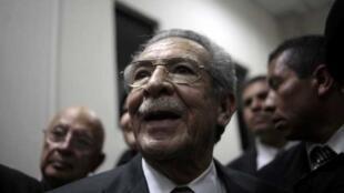 El ex dictador guatemalteco José Efraín Ríos Montt.