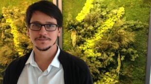 O historiador e advogado, Rafael Soares Gonçalves, de passagem pelos estúdios da RFI