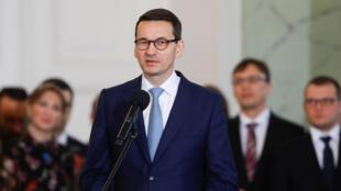 Thủ tướng Ba Lan Mateusz Morawiecki tại Vacxava, ngày 09/01/2018.