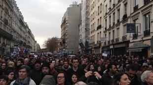 The Je suis Charlie demonstration in Paris on 11 January 2015