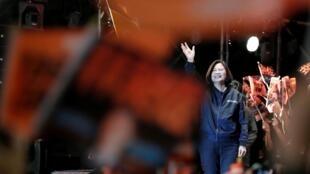 Tổng thống Đài Loan Thái Anh Văn trong cuộc vận động tranh cử ngày 21/12/2019 tại Đài Bắc.
