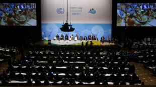 Vue générale de l'ouverture de la COP23 à Bonn le 6 novembre 2017.