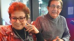 Sonia Luz Carrillo y Ricardo Falla en los estudios de RFI