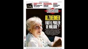 Capa do jornal Libération destaca o dia mundial de conscientização do Alzheimer e lança o debate sobre qual o diagnóstico correto, 21 de setembro de 2018