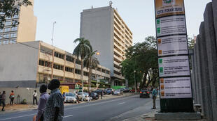 Le quartier d'affaires du Plateau à Abidjan le 6 mai 2019.