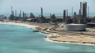 Une raffinerie de pétrole possédée par Aramco, en Arabie Saoudite.