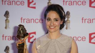Marie Gillain a remporté le Molière de la meilleure comédienne pour le théâtre privé, lundi 27 avril 2015.