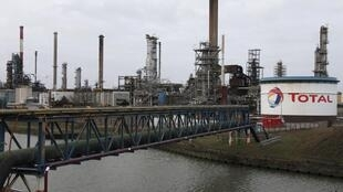 Total's refinery at Dunkirk in the north of France