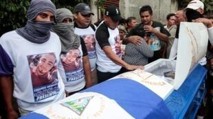 Đám tang một người biểu tình phản đối chính quyền Ortega, ngày 15/06/2018, tại Tipitapa.